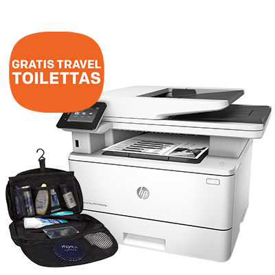 HP LaserJet MFP printer prijsverlaging + GRATIS toilettas