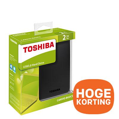 Toshiba externe harde schijf 2TB - hoge korting