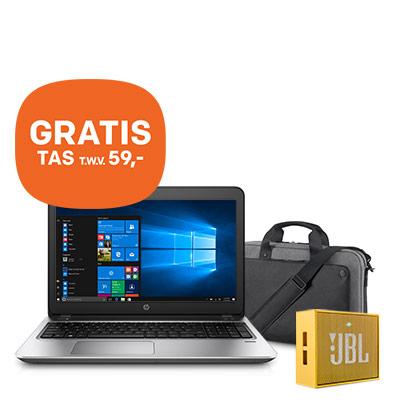"ProBook 450 G4 15.6"" met GRATIS HP tas en JBL speaker"