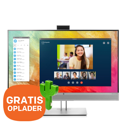 "HP EliteDisplay 27"" E273m monitor - GRATIS oplader"