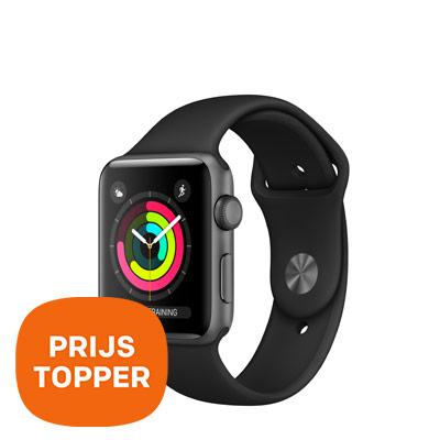 Dagaanbieding - Apple Smartwatch Series 3 Aluminium 42mm - prijstopper dagelijkse koopjes