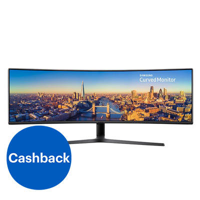 Samsung Curved ultra-wide 49 inch monitor - cashback