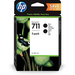 HP 711 2-pack DesignJet-inktcartridges, zwart (80 ml elk) Inktcartridge
