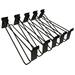 Sandberg Hooks for Alu Slatwall 10-Pack - Zwart