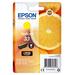 Epson inktcartridge: Singlepack Yellow 33 Claria Premium Ink - Geel