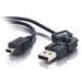 C2G 2m FlexUSB 2.0 A/5-Pin Mini-B Cable USB kabel - Zwart