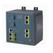 Cisco switch: 4 Ethernet 10/100, DC, Layer 3, 802.1q, QoS, IGMPv3, DHCP, 128 MB DRAM - Blauw